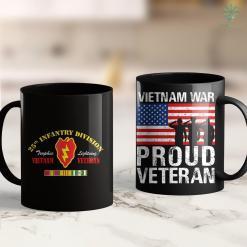 Vva 25Th Infantry Division Vietnam Veteran 11Oz 15Oz Black Coffee Mug %tag familyloves.com