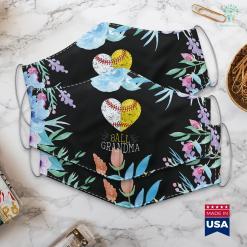 What To Buy Grandma For Christmas Mom Funny Baseball Ball Funny Grandma Softball Gifts Face Mask Gift %tag familyloves.com