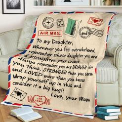 Police Daughter Wherever Your Journey In Life May Sofa Fleece Blanket 50-80