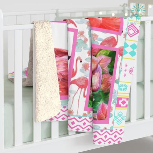 Flamingo Blanket Flamingo Gifts For Daughter Sherpa Fleece Blanket %tag familyloves.com