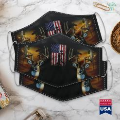 Best Hunting Games Patriotic Coon Hunting Dogs American Flag Cloth Face Mask Gift %tag familyloves.com