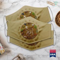 Montana Elk Hunting Dill Doe Funny Deer Hunting Season For Women Men Cloth Face Mask Gift %tag familyloves.com