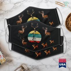 Montana Hunting Seasons Archery Bow Hunting Vintage Retro Gift Cloth Face Mask Gift %tag familyloves.com