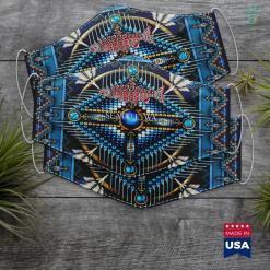 Native American Womens Costumes Seneca Nation Native American Indian Respect Skull Cloth Face Mask Gift %tag familyloves.com