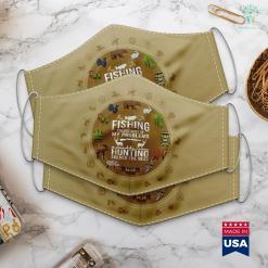 North Carolina Hunting Seasons Funny Hunting S Funny Fishing And Hunting Hunter Cool Cloth Face Mask Gift %tag familyloves.com