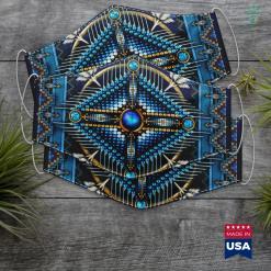 Nude Native American Native American Cross Mandala 3 Cloth Face Mask Gift %tag familyloves.com