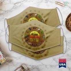 Ohio Deer Hunting Idaho Elk Hunter Dad Vintage Retro Sun Bow Hunting Cool Gift Cloth Face Mask Gift %tag familyloves.com