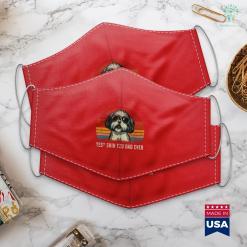 Pug Dog Mens Best Shih Tzu Dad Ever Funny Shih Tzu Dad Gift Dog Lover Face Mask Gift %tag familyloves.com