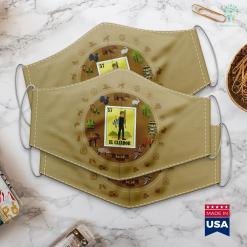 South Carolina Hunting License Mens Spanish Hunting Lottery Gift Mexican Bingo El Cazador Cloth Face Mask Gift %tag familyloves.com