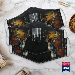 The Division Hunters Vintage Us Flag Coyote Hunting Hunter Tee Hunters Gift Cloth Face Mask Gift %tag familyloves.com