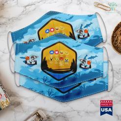 Wow Fishing For Something Bigger I Love Fishing Funny Fishing Emoji Cloth Face Mask Gift %tag familyloves.com