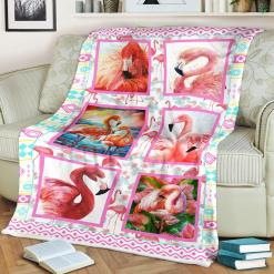 Flamingo Blanket Flamingo Gifts For Daughter Sherpa Fleece Blanket %tag familyloves.com