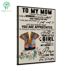 Coast Guard To My Mom I Know It's Not Easy For A Woman To Raise A Child Love Daughter Canvas %tag familyloves.com
