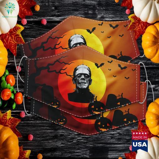 Classic Halloween Monster Horror Movie Frankenstein Monster Halloween Night Cloth Face Mask Gift %tag familyloves.com
