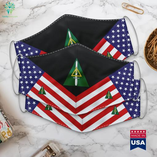 Delta Force Us Army Us Army Emblem Cloth Face Mask Gift %tag familyloves.com
