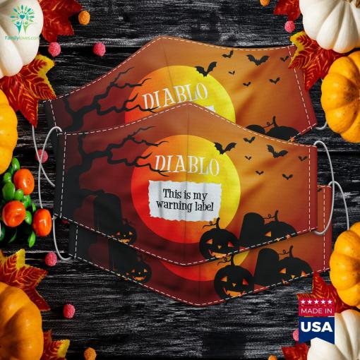 Diablo Taco Sauce Packet Halloween Costume Halloween Outfit Box Bdo Cloth Face Mask Gift %tag familyloves.com