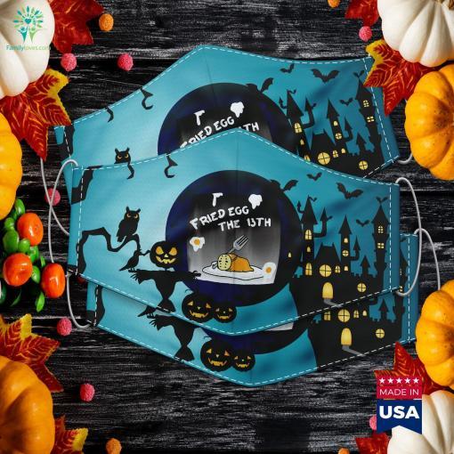 Gudetama Fried Egg The 13Th Halloween Tee Halloween Vs Friday The 13Th Cloth Face Mask Gift %tag familyloves.com