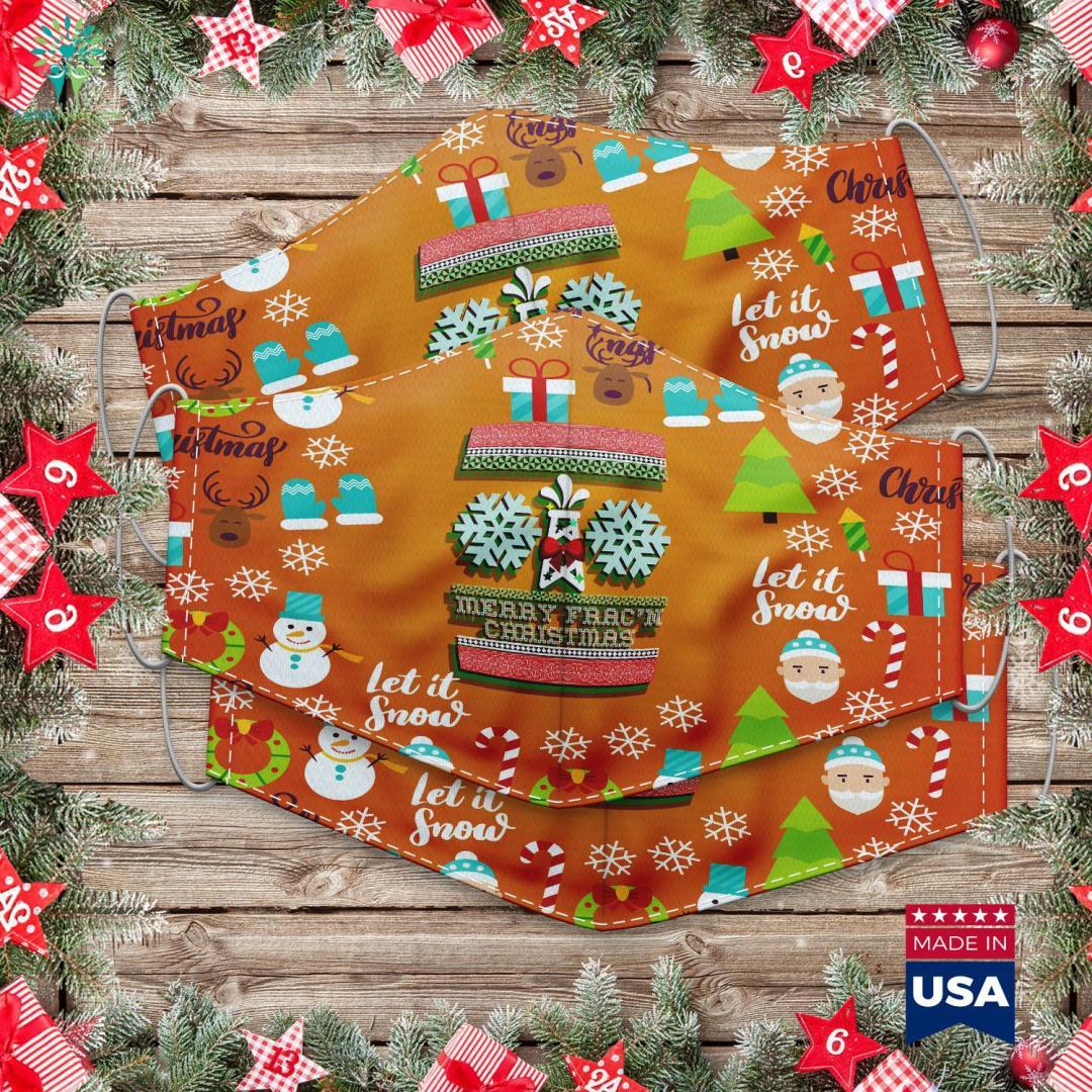 Hollywood Christmas Parade Merry Frac N Christmas Cloth Face Mask Gift %tag familyloves.com