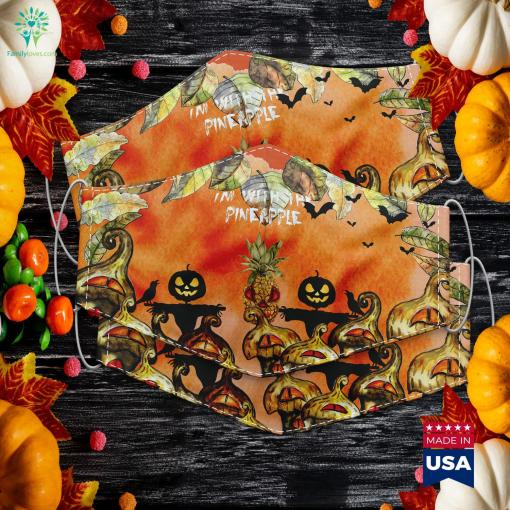Im With Pineapple Halloween Costume Festival Gift Adult Halloween Costumes Cloth Face Mask Gift %tag familyloves.com