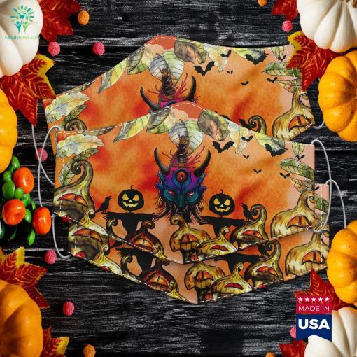 Japan Style Demon Artwork Asia Halloween Asian Tattoo Halloween Intro Maker Cloth Face Mask Gift %tag familyloves.com