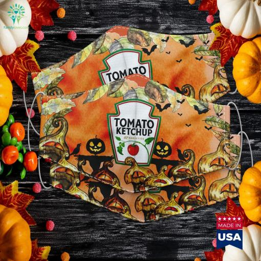 Ketchup Condiments Couples And Group Halloween Costumes Halloween Outside House Decorations Cloth Face Mask Gift %tag familyloves.com