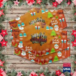 Merry Christmas In Hawaiian Bigfoot Sasquatch Scooter Santa Claus Birthday Christmas Raglan Cloth Face Mask Gift %tag familyloves.com
