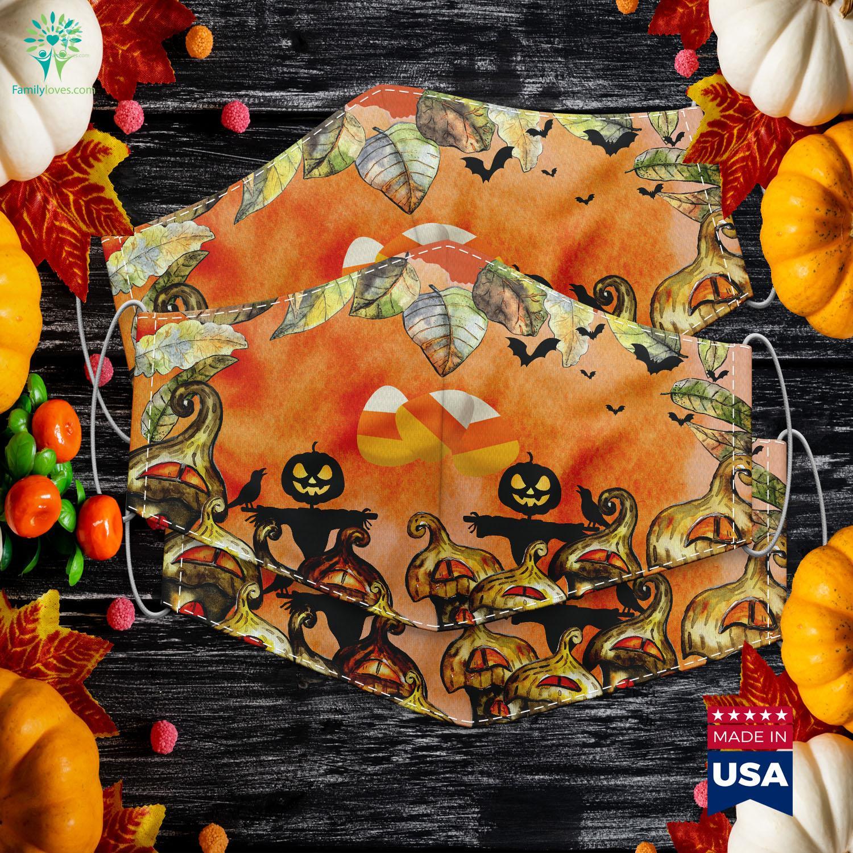 Orange Yellow White Happy Halloween Candy Corn Halloween Garland Cloth Face Mask Gift Familyloves Com