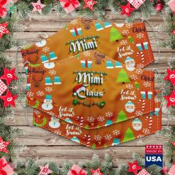 Our First Christmas Ornament Mimi Santa Claus Hat Christmas Xmas Gift Lights Raglan Cloth Face Mask Gift %tag familyloves.com