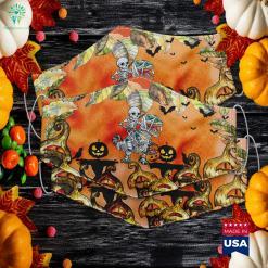 Skeleton Hand Skeleton Hand Bra Halloween Halloween Party Cloth Face Mask Gift %tag familyloves.com