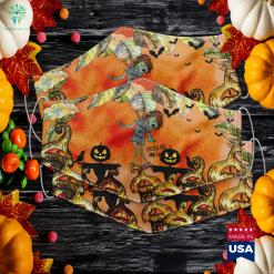 Sksksk And I Ooze Zombie Halloween School Halloween Clip Art Cloth Face Mask Gift %tag familyloves.com