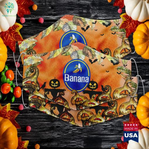 Sweet Yellow Banana Funny Fruit Halloween Costume Design Halloween Party Games Cloth Face Mask Gift %tag familyloves.com