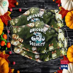 Unicorn Security Design Funny Unicorn Gym Halloween Gift Halloween Dress Up Ideas Cloth Face Mask Gift %tag familyloves.com