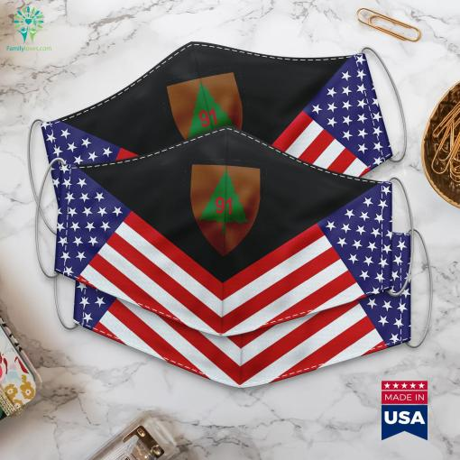 Us Army 91St Infantry Division Ssi Lowest Rank In Army Cloth Face Mask Gift %tag familyloves.com