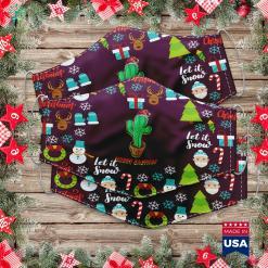 Vistaprint Christmas Cards Christmas Cactus Pun Merry Cactmas Santa Xmas Cloth Face Mask Gift %tag familyloves.com