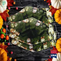 Womens Jack O Lantern Halloween Pumpkin Lady Face Halloween Jewelry Cloth Face Mask Gift %tag familyloves.com