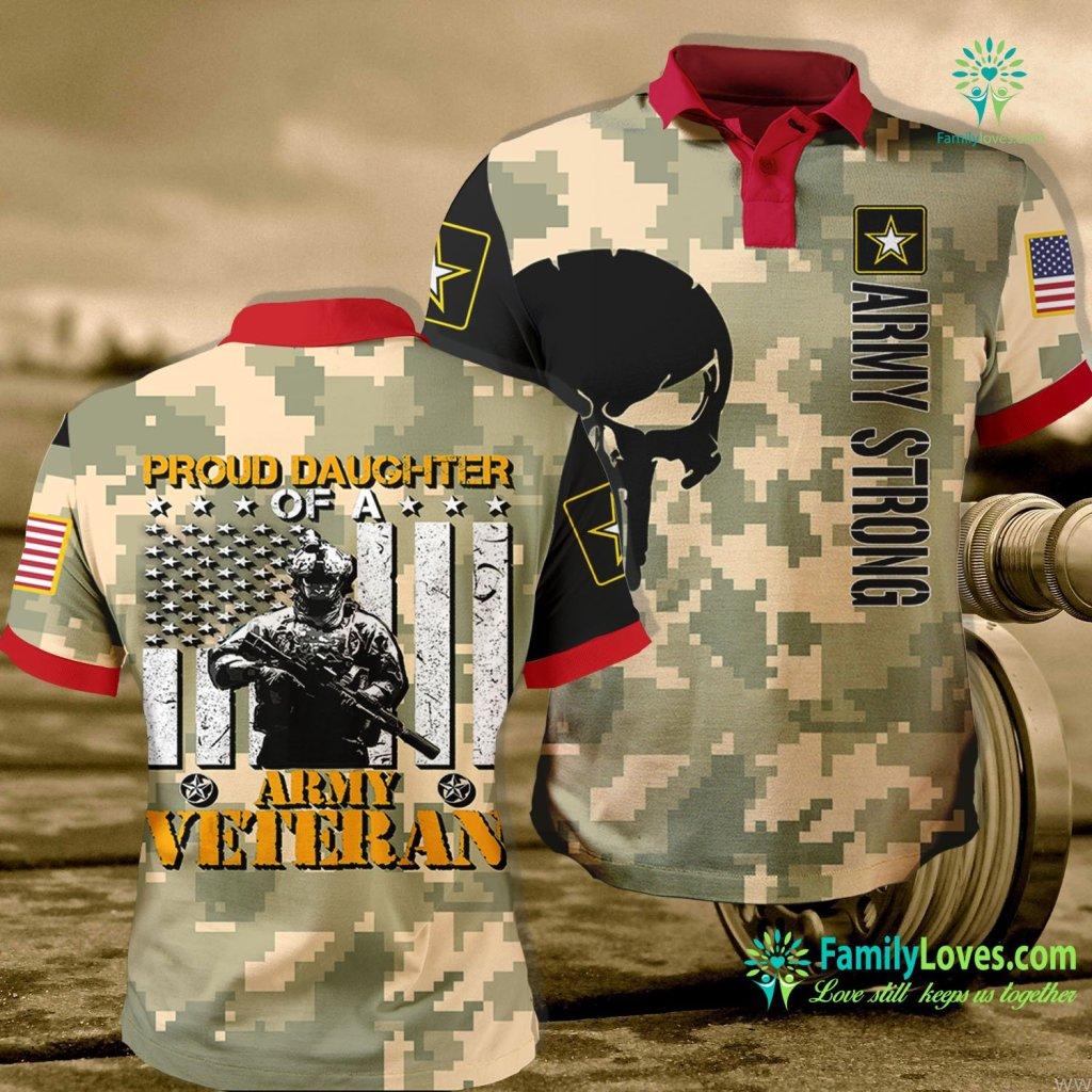 Navy Mugs Proud Daughter Of A Army Veteran Us Navy Veteran Army Polo Shirt All Over Print Familyloves.com