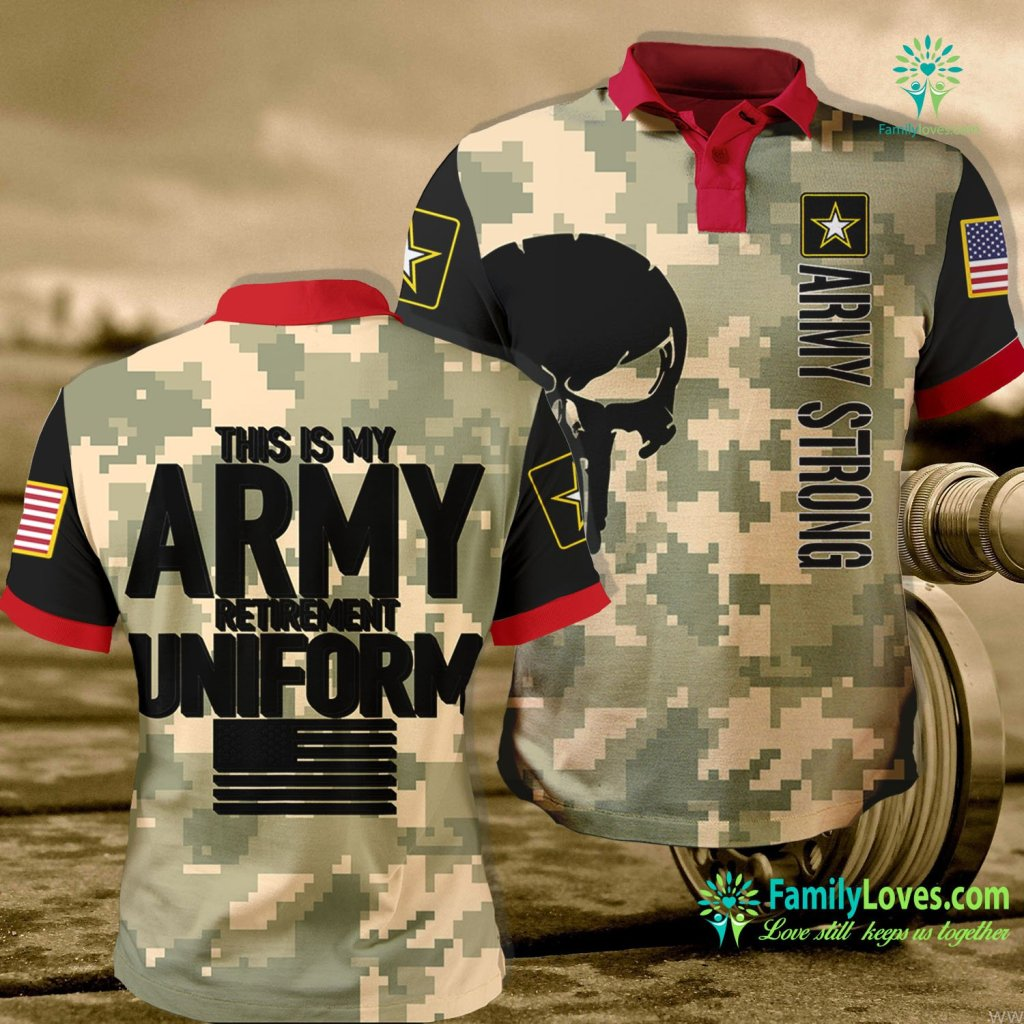 Us Army Sniper This Is My Army Retirement Uniform Retired Army Army Polo Shirt All Over Print Familyloves.com