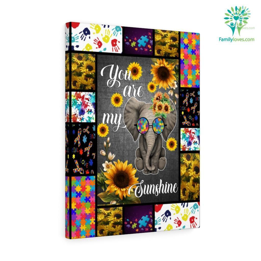 You Are My Sunshine Elephant Canvas Familyloves.com