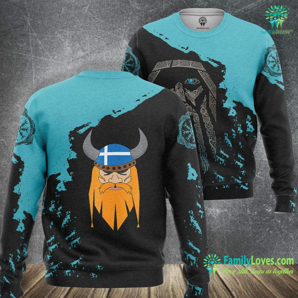 Freyja Cats Cool Viking Shetland Up Helly Aa Viking Sweatshirt All Over Print Familyloves.com