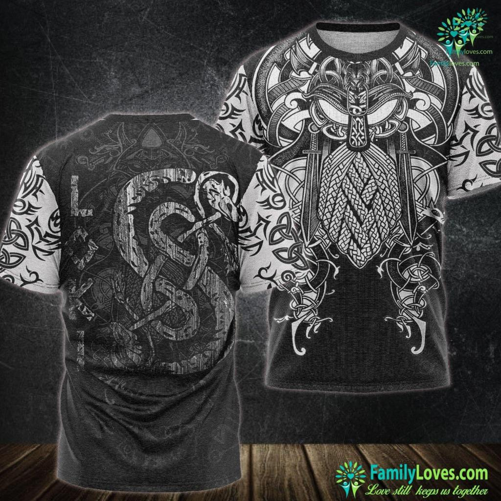 Local Viking Loki S Symbol The Serpen Vikings Gods Myth Viking Tee Viking Unisex Tshirt All Over Print Familyloves.com