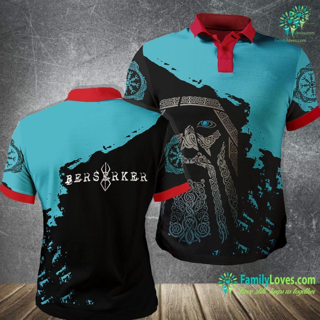 Norse Alphabet Berserker Norse Viking Warrior Viking Polo Shirt All Over Print Familyloves.com