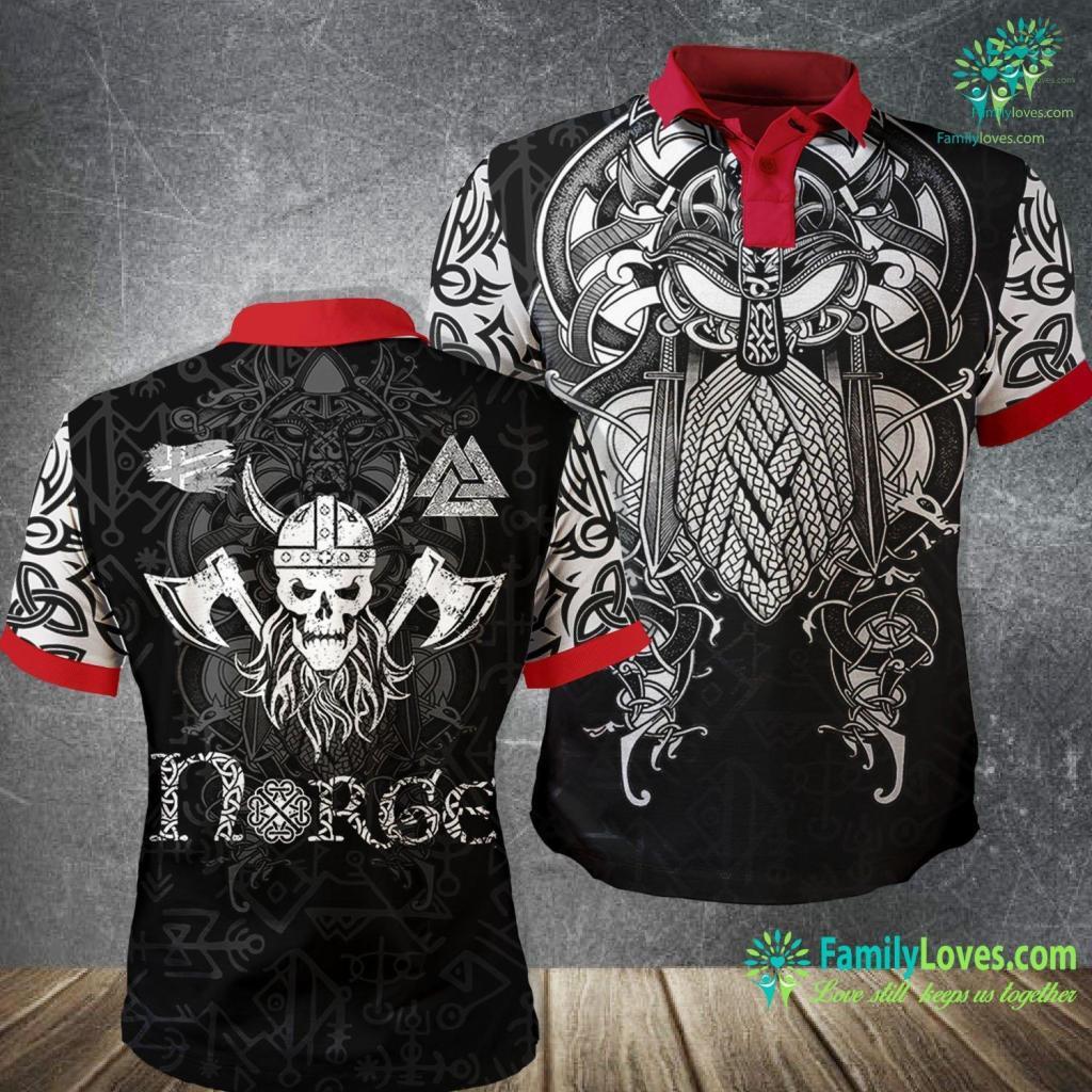 Norse Armor Nordic Viking Warrior Gift For Scandinavian Norse Mythology Premium Viking Polo Shirt All Over Print Familyloves.com