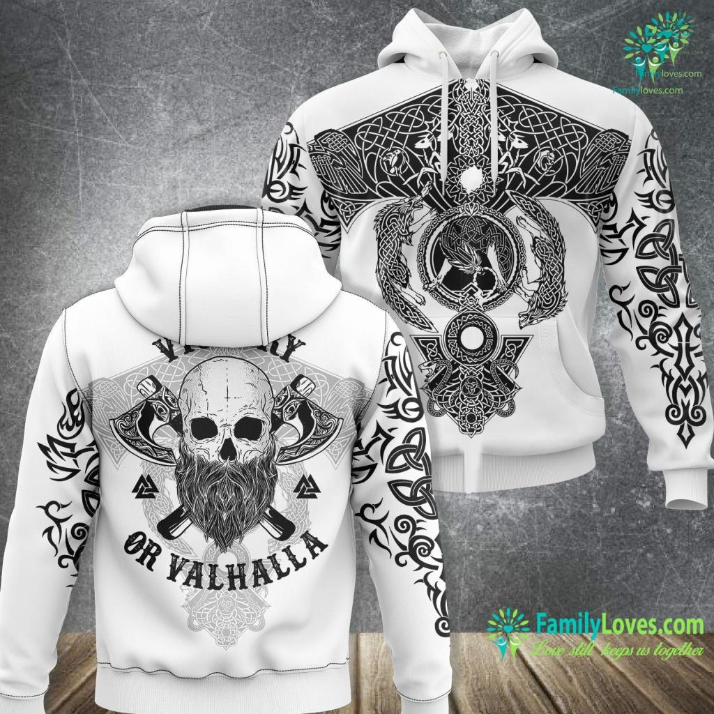 Odin Santa Viking S Victory Or Valhalla Viking Unisex Hoodie All Over Print Familyloves.com