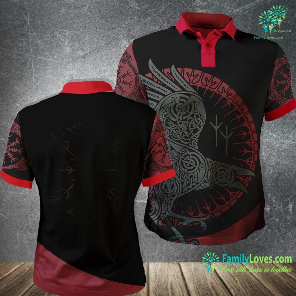 Othala Veldismagn Vikings Norse Odin Thor Vegvisir Celtic Viking Polo Shirt All Over Print Familyloves.com
