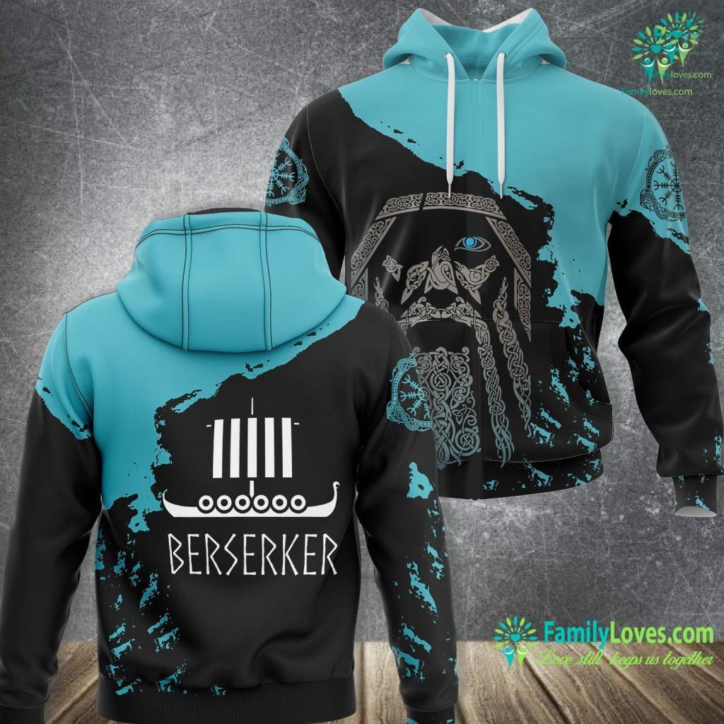 Ragnarok Norse Berserker Viking Quotes And Scandinavian Gifts Viking Unisex Hoodie All Over Print Familyloves.com