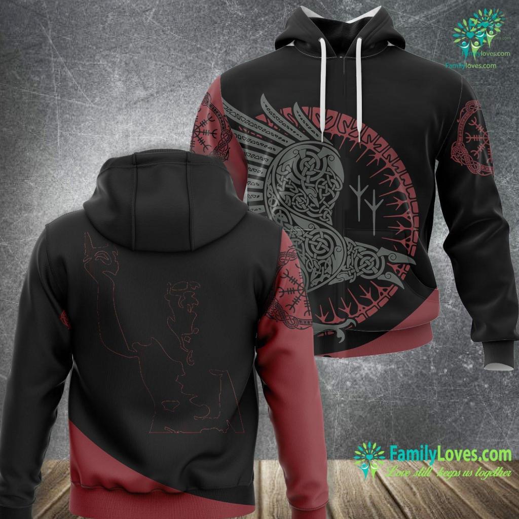 Symbols Of Love And Strength Techno Viking Viking Unisex Hoodie All Over Print Familyloves.com