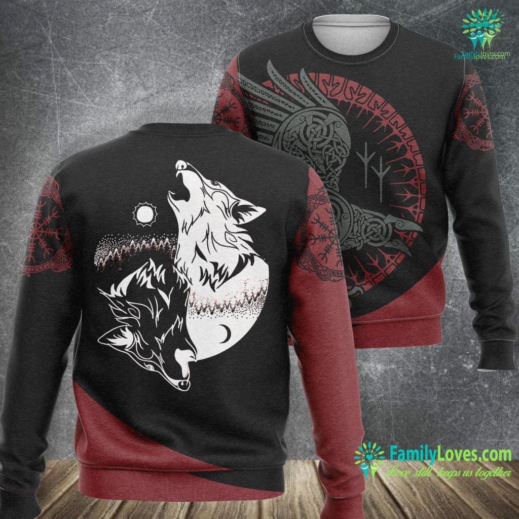 The Saga Of Floki Yin Yang Wolf Skoll Norse Viking Viking Sweatshirt All Over Print Familyloves.com