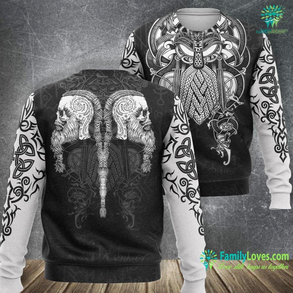 Thors Hammer Pronunciation Ragnar Lodbrok Viking Ragnar Skull Gift Viking Sweatshirt All Over Print Familyloves.com