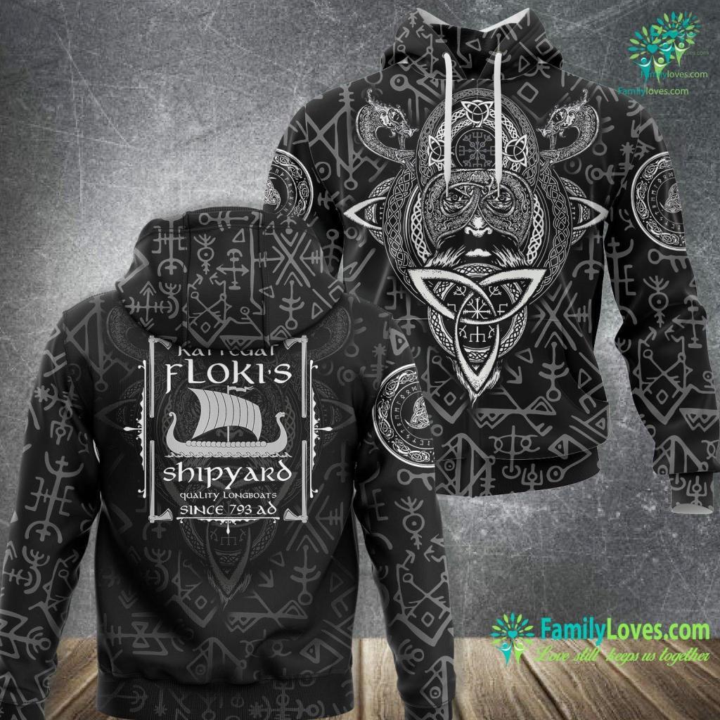 Viking Dress Flokis Shipyard Kattegat Vikings Viking Unisex Hoodie All Over Print Familyloves.com