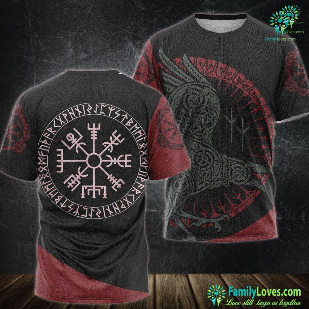 Viking Gods Names Vintage Viking Compass Wotan Norse Mythology Viking Unisex Tshirt All Over Print Familyloves.com